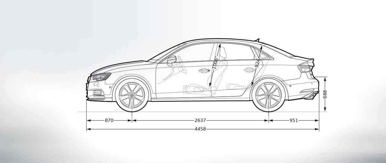 Wymiary W Mm Gt A3 Limousine Gt A3 Gt Audi Polska