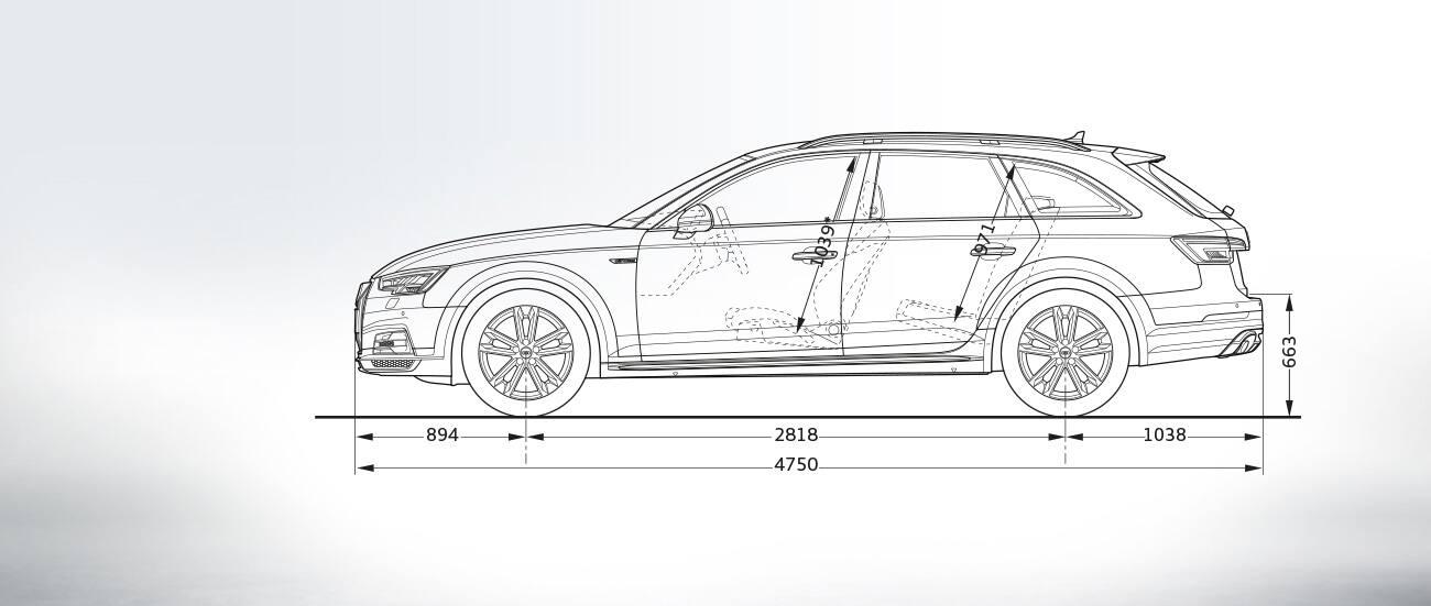 Wymiary W Mm A4 Allroad Quattro A4 Audi Polska Przewaga